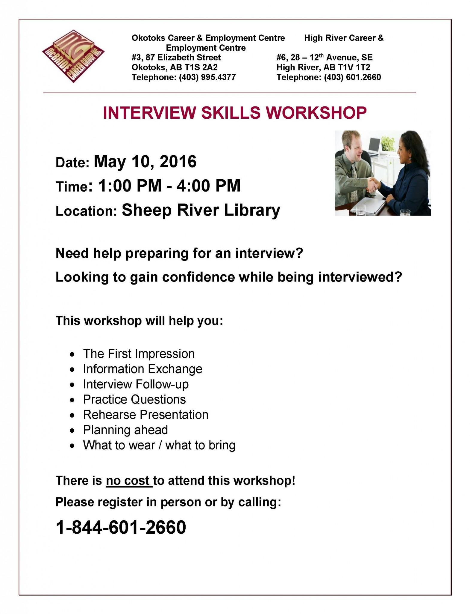 interview skills workshop poster turner valley interview skills workshop poster 10 2016