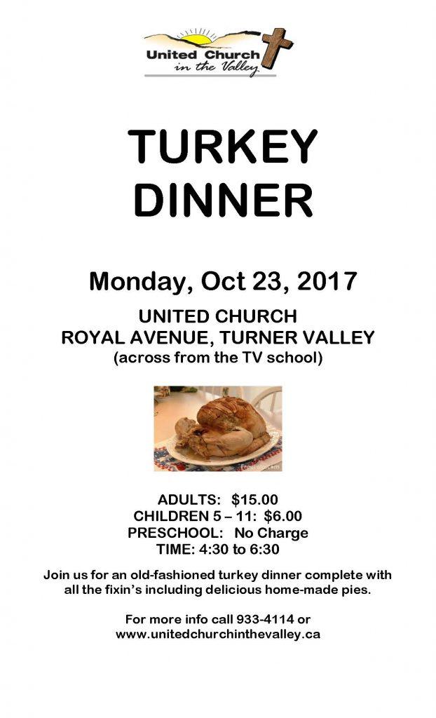TURKEY DINNER POSTER2017