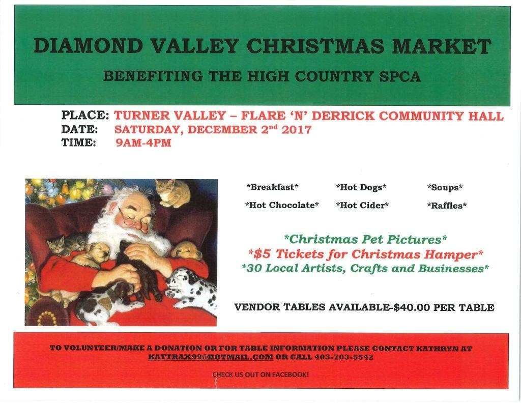 2017 HCSPCA Christmas market poster