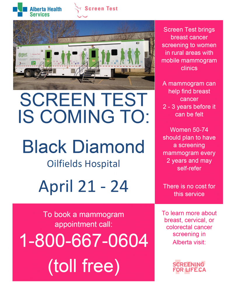 Screen Test Black Diamond Clinic 2017